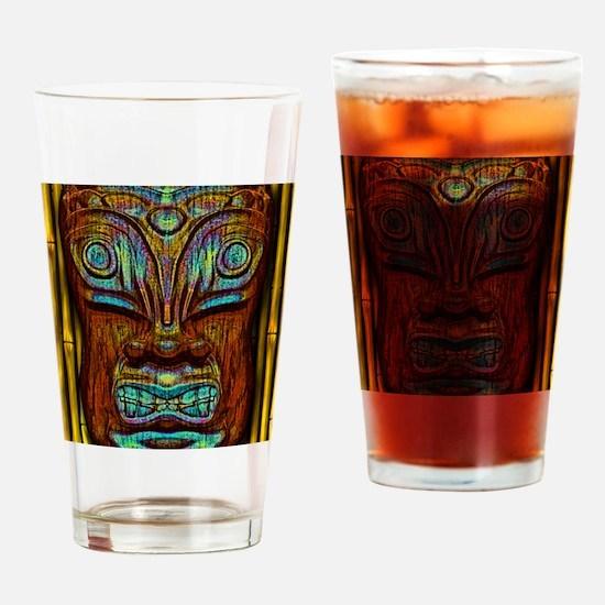BlueWoodTjki Drinking Glass