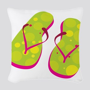 flipflops Woven Throw Pillow