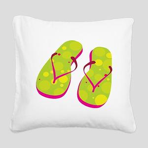 flipflops Square Canvas Pillow