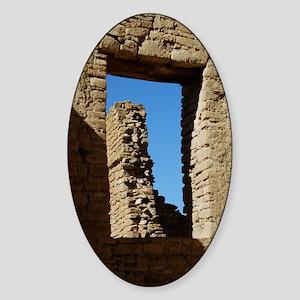 Pueblo Bonito Window Sticker (Oval)