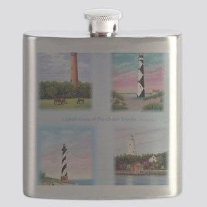 Lighthouses Outer Banks tall Flask