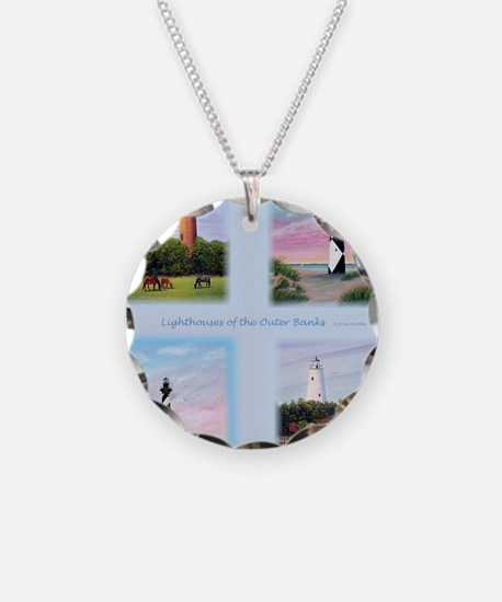 Lighthouses Outer Banks tall Necklace