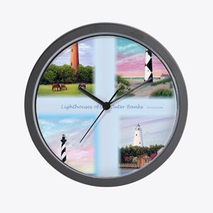 Lighthouses Outer Banks tall Wall Clock