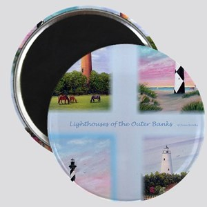 Lighthouses Outer Banks tall Magnet