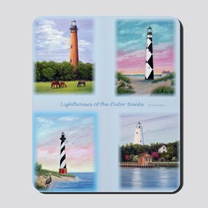 Lighthouses Outer Banks tall Mousepad