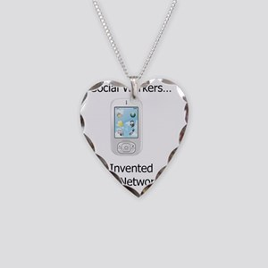Social Network Necklace Heart Charm