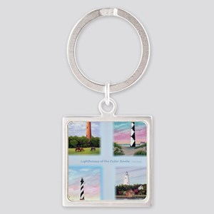 Lighthouses Outer Banks tall Square Keychain