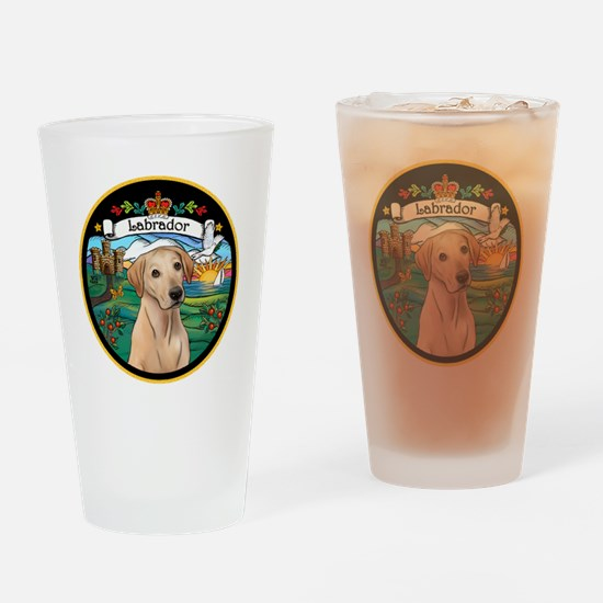 J-ORN-Coat-Arms-Yellow Lab Drinking Glass