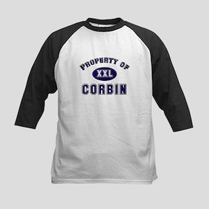Property of corbin Kids Baseball Jersey