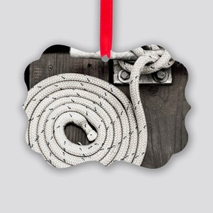 boat knot Picture Ornament
