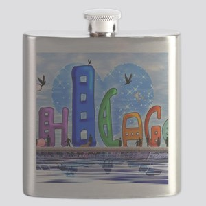 I heart Chicago Flask