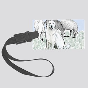 great pyrenees pastoral2 Large Luggage Tag