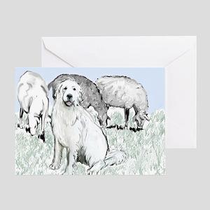 great pyrenees pastoral2 Greeting Card
