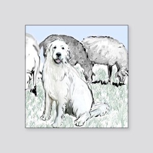 """great pyrenees pastoral2 Square Sticker 3"""" x 3"""""""