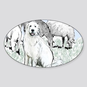 great pyrenees pastoral2 Sticker (Oval)