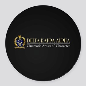 Delta Kappa Alpha Logo Round Car Magnet