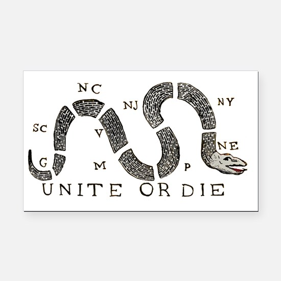 unite-or-die Rectangle Car Magnet