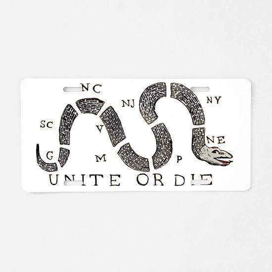 unite-or-die Aluminum License Plate