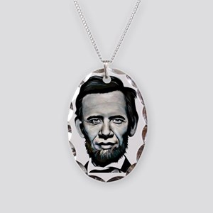 obamalincoln Necklace Oval Charm