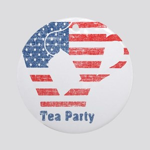 teapartyfaded Round Ornament
