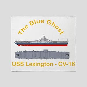 Essex-Lex-T-Shirt_Front_Dk_Straight Throw Blanket