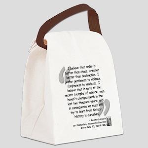 Clark Believe Quote Canvas Lunch Bag