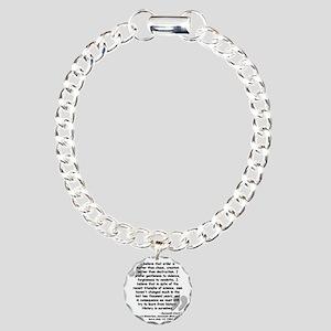 Clark Believe Quote Charm Bracelet, One Charm