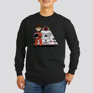 Spaceman Pad3 Long Sleeve Dark T-Shirt