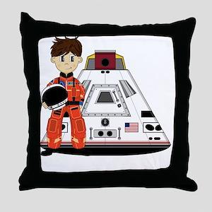 Spaceman Pad3 Throw Pillow