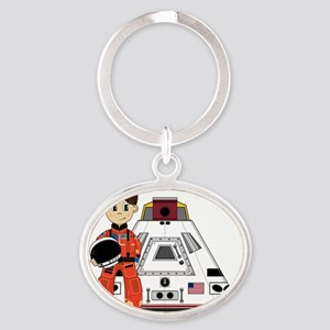 Spaceman Pad3 Oval Keychain