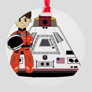 Spaceman Pad3 Round Ornament