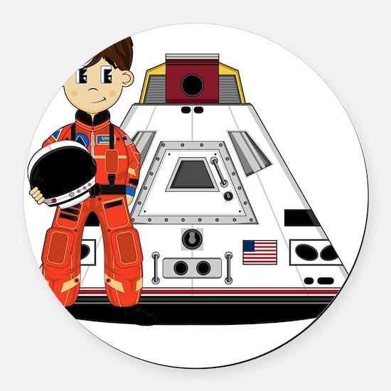 Spaceman Pad3 Round Car Magnet