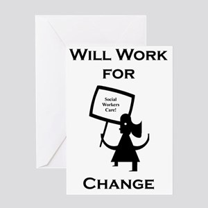 Working for Change Greeting Card