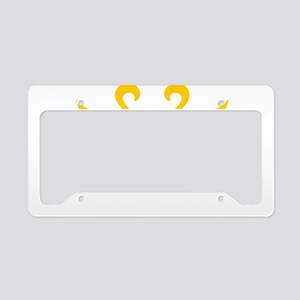 yellow_white_ License Plate Holder