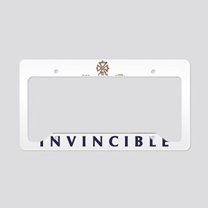 Ideas Are Invincible Crown License Plate Holder