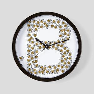 B (made of bees) Wall Clock