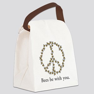 Bees be with you (Peace) Canvas Lunch Bag