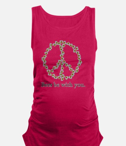 Bees be with you (Peace) Maternity Tank Top