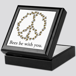Bees be with you (Peace) Keepsake Box
