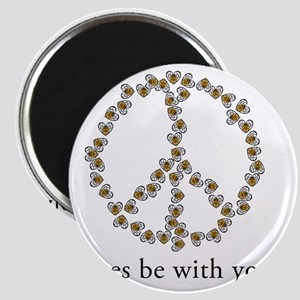 Bees be with you (Peace) Magnet