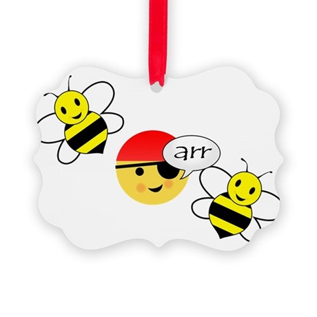 bee arr bee (hi-res) Picture Ornament