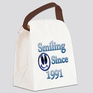 Smiling Since 1991 Canvas Lunch Bag