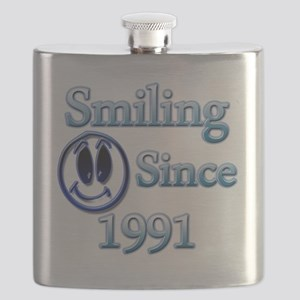 Smiling Since 1991 Flask