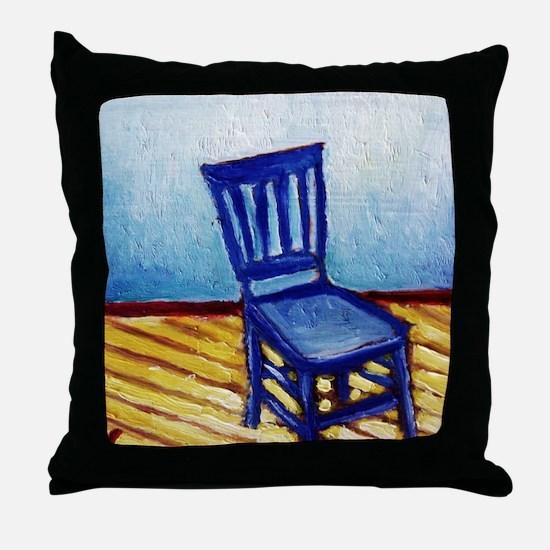 bluechair Throw Pillow