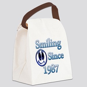 Smiling Since 1987 Canvas Lunch Bag