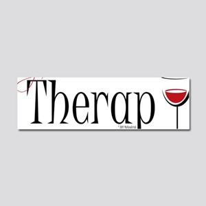 Wine-My-Therapy Car Magnet 10 x 3