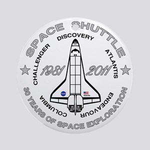 Space Shuttle_cafepress_2_bright Round Ornament