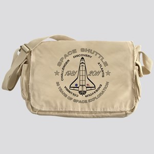 Space Shuttle_cafepress_2_dark Messenger Bag