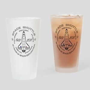 Space Shuttle_cafepress_2_dark Drinking Glass