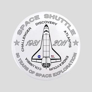 """Space Shuttle_cafepress_2_dark 3.5"""" Button"""